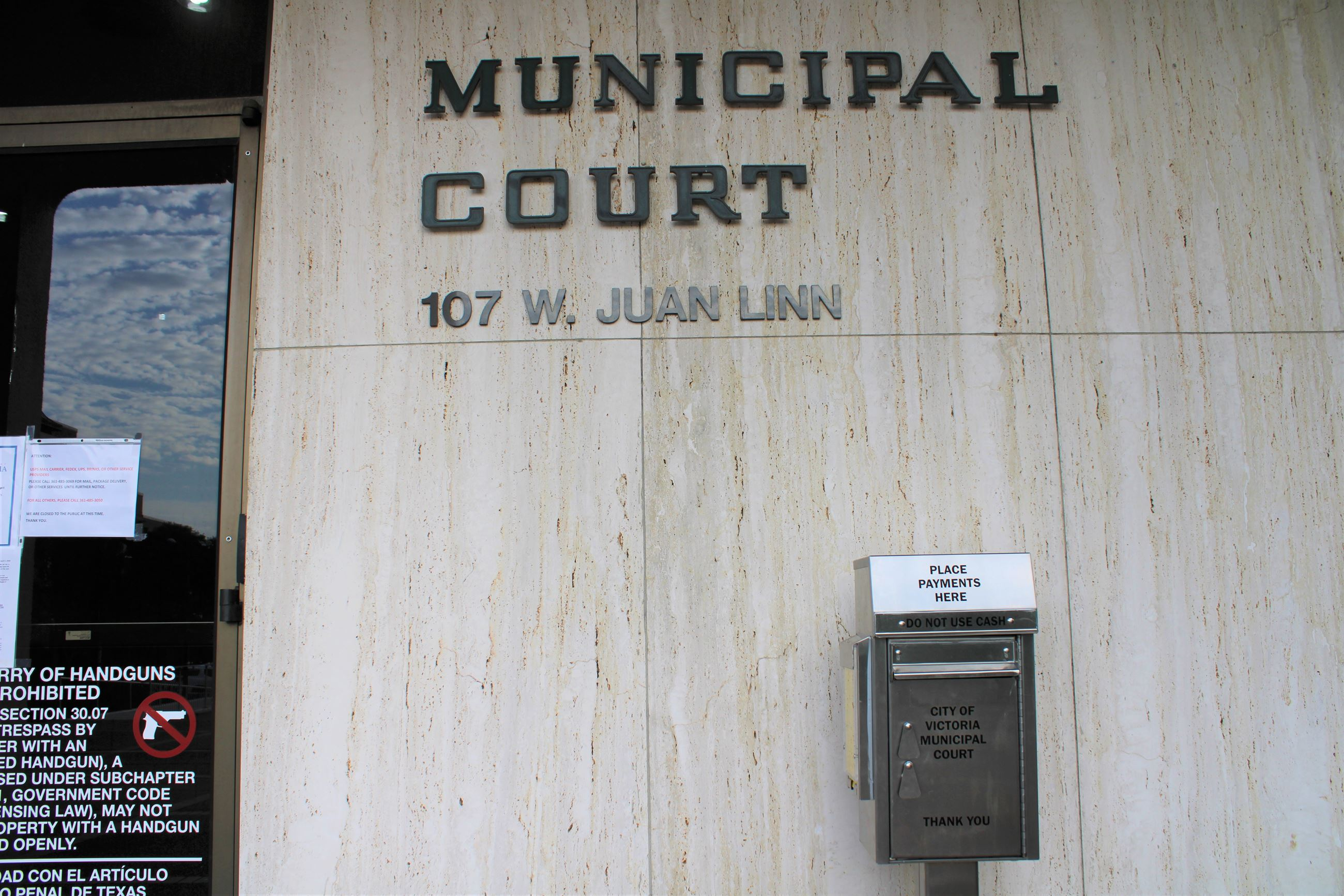 Municipal Court drop box
